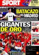 Portada diario Sport del 19 de Septiembre de 2011