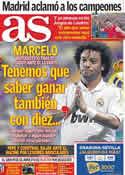 Portada diario AS del 20 de Septiembre de 2011