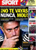 Portada diario Sport del 20 de Septiembre de 2011