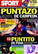 Portada diario Sport del 22 de Septiembre de 2011