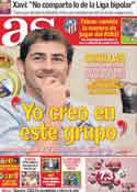 Portada diario AS del 23 de Septiembre de 2011