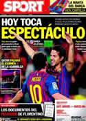 Portada diario Sport del 24 de Septiembre de 2011