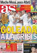 Portada diario AS del 25 de Septiembre de 2011