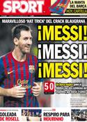 Portada diario Sport del 25 de Septiembre de 2011