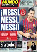 Portada Mundo Deportivo del 25 de Septiembre de 2011