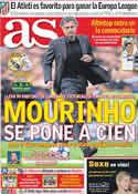 Portada diario AS del 27 de Septiembre de 2011