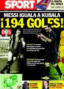 Portada diario Sport del 29 de Septiembre de 2011