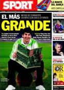 Portada diario Sport del 30 de Septiembre de 2011