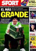 Portada diario Sport del 30 de Septiembre de 2011