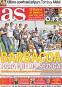 Portada diario AS del 1 de Octubre de 2011