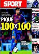 Portada diario Sport del 1 de Octubre de 2011