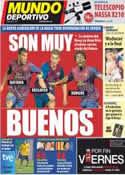 Portada Mundo Deportivo del 1 de Octubre de 2011