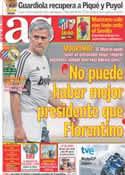 Portada diario AS del 2 de Octubre de 2011