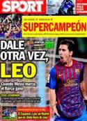 Portada diario Sport del 2 de Octubre de 2011