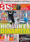 Portada diario AS del 3 de Octubre de 2011