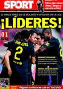 Portada diario Sport del 3 de Octubre de 2011