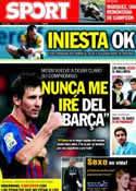 Portada diario Sport del 4 de Octubre de 2011