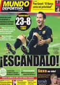 Portada Mundo Deportivo del 4 de Octubre de 2011