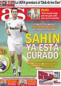 Portada diario AS del 5 de Octubre de 2011