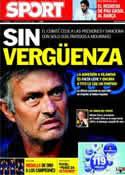 Portada diario Sport del 6 de Octubre de 2011
