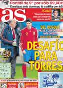 Portada diario AS del 7 de Octubre de 2011