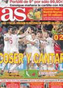 Portada diario AS del 8 de Octubre de 2011