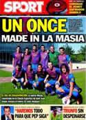 Portada diario Sport del 8 de Octubre de 2011