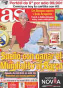 Portada diario AS del 9 de Octubre de 2011