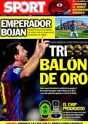 Portada diario Sport del 9 de Octubre de 2011