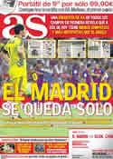 Portada diario AS del 10 de Octubre de 2011