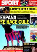 Portada diario Sport del 11 de Octubre de 2011