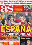 Portada diario AS del 12 de Octubre de 2011