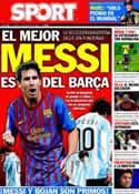 Portada diario Sport del 13 de Octubre de 2011