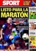 Portada diario Sport del 14 de Octubre de 2011