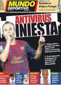 Portada Mundo Deportivo del 14 de Octubre de 2011