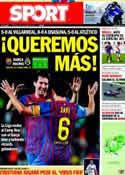 Portada diario Sport del 15 de Octubre de 2011