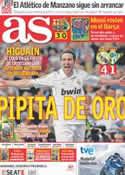Portada diario AS del 16 de Octubre de 2011