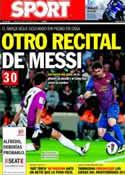 Portada diario Sport del 16 de Octubre de 2011