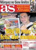 Portada diario AS del 17 de Octubre de 2011