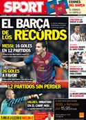 Portada diario Sport del 17 de Octubre de 2011
