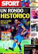 Portada diario Sport del 18 de Octubre de 2011