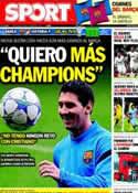 Portada diario Sport del 19 de Octubre de 2011