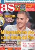 Portada diario AS del 20 de Octubre de 2011