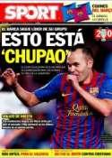 Portada diario Sport del 20 de Octubre de 2011