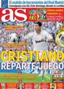Portada diario AS del 21 de Octubre de 2011