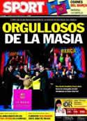 Portada diario Sport del 21 de Octubre de 2011
