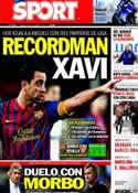 Portada diario Sport del 22 de Octubre de 2011