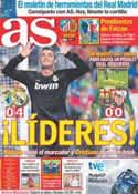 Portada diario AS del 23 de Octubre de 2011