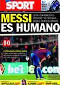 Portada diario Sport del 23 de Octubre de 2011
