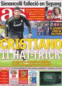 Portada diario AS del 24 de Octubre de 2011